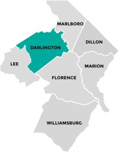 Darlington County in Pee Dee Country South Carolina
