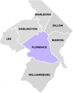 Florence County in Pee Dee Country South Carolina