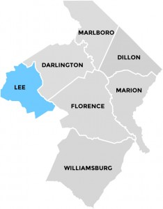 Lee County in Pee Dee Country South Carolina
