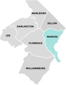 Marion County in Pee Dee Country South Carolina