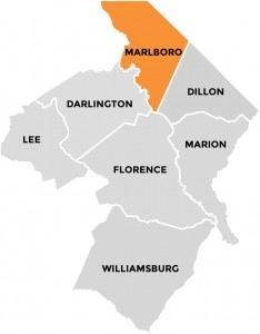 Marlboro County in Pee Dee Country South Carolina