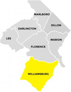 Williamsburg County in Pee Dee Country South Carolina