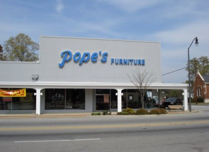 Pope's Furniture in Pee Dee South Carolina